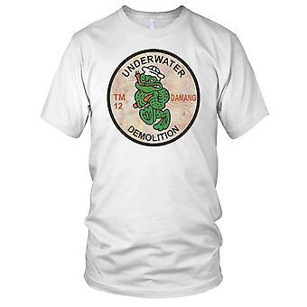 US Underwater Demolition TM12 - Vietnam War - Grunge Effect Kids T Shirt