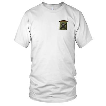 5 Commando - Crossed Daggers - Green Pipe Military Insignia Embroidered Patch - Mens T Shirt