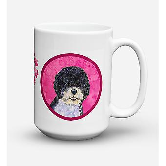 Portuguese Water Dog  Dishwasher Safe Microwavable Ceramic Coffee Mug 15 ounce S