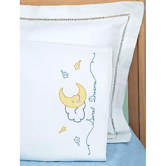 Children's Stamped Pillowcase With White Perle Edge 1 Pkg Sweet Dreams 1605 119