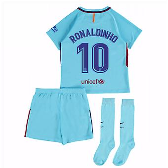 2017-2018 Barcelona distancia Mini Kit (Ronaldinho 10)