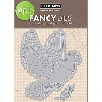 Hero Arts Paper Layering Dies-Dove With Frame DI401
