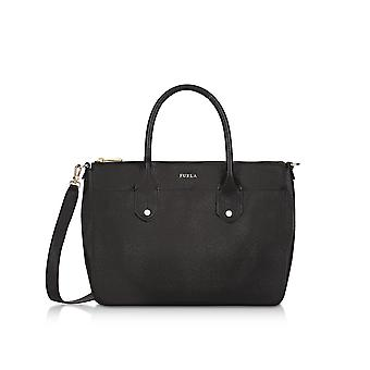 FURLA 921126 ladies black leather handbags