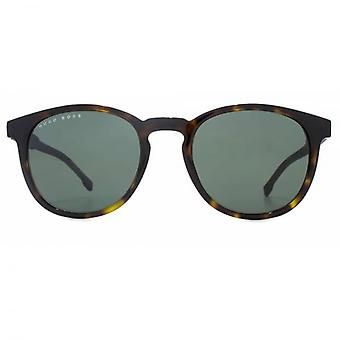 Hugo Boss Essential Keyhole Round Sunglasses In Dark Havana