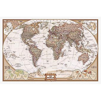 Map of the World Poster Print (36 x 24)