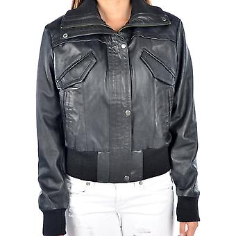Lily Womens Bomber Leather Jacket