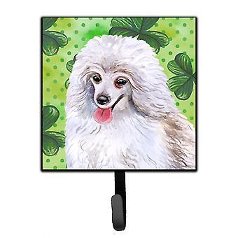Medium White Poodle St Patrick's Leash or Key Holder