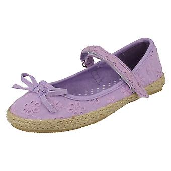 Girls Spot On Flat Espadrille F2143