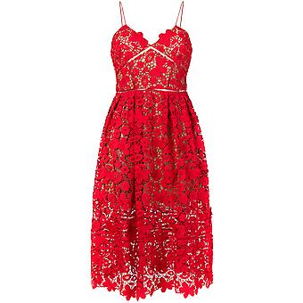 Self-portrait ladies SP16009RRED red polyester dress