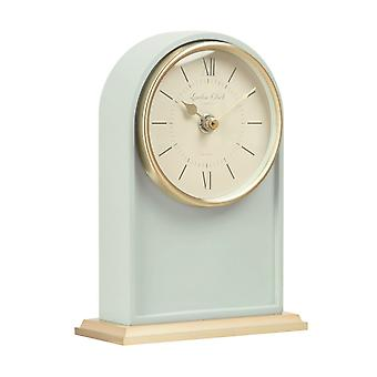London Clock 1922 18cm Heritage Molly Sage Green Arch Top Mantel Clock