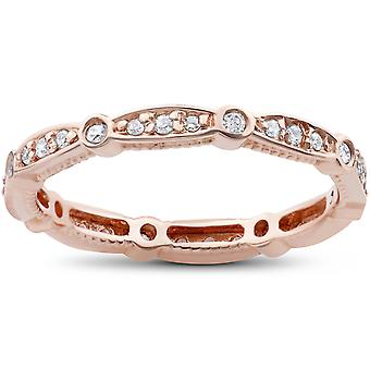 3/8ct Diamond Eternity Ring 14K Rose Gold