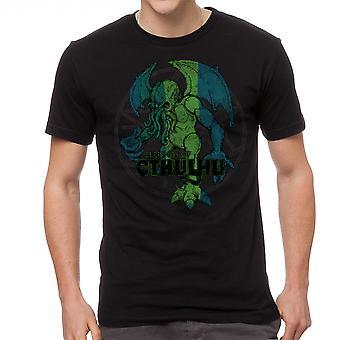Warpo Cthulhu nødlidende mænds sort T-shirt