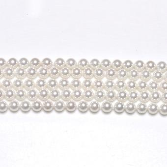 Strand 62+ White South Sea Shell Pearl 6mm Plain Round Beads GS1225-2