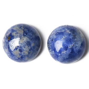 Packet 3 x Blue Sodalite Flat Back 12mm Coin 5mm Thick Cabochon CA16683-3