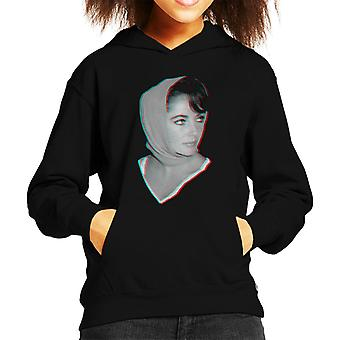 Elizabeth Taylor 1959 3D Effect Kid's Hooded Sweatshirt