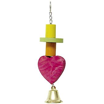 Ica Heart with Bell (Birds , Toys)