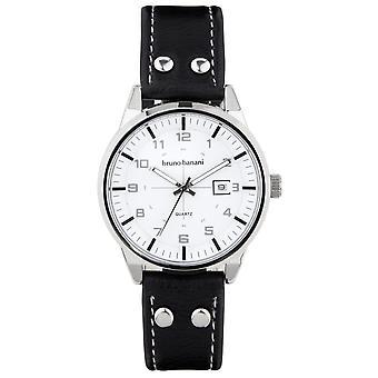 Bruno Banani ver ob reloj de pulsera analógico BR30006 de cuero