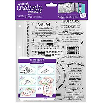Creativity Essentials A5 Clear Stamps-Verses