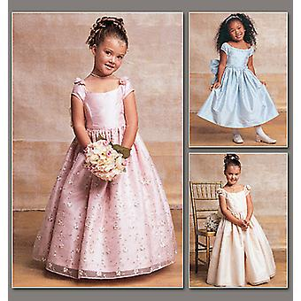 Children's / Girls' Lined, Evening Or Lower Calf Length Dres-6-7-8 -*SEWING PATTERN*