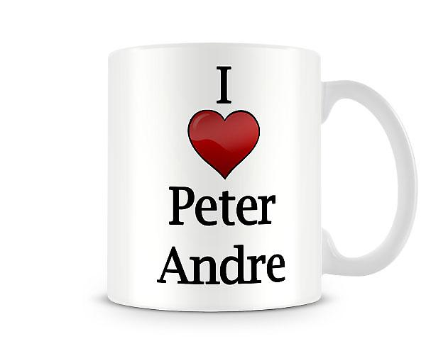 I Love Peter Andre Printed Mug