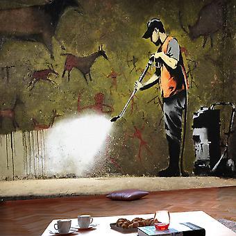 Wallpaper - Banksy - grot schilderij