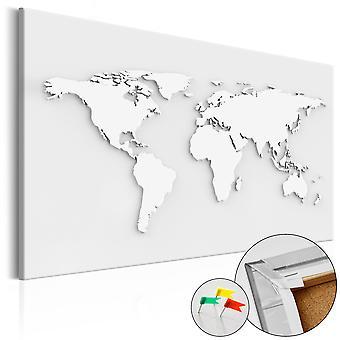 Decorative Pinboard - Monochromatic World [Cork Map]