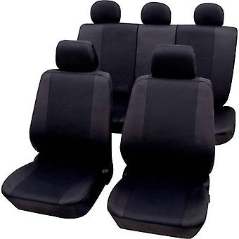 Petex 26174804 Sydney Seat covers 11-piece Polyester Black Drivers seat, Passenger seat, Back seat