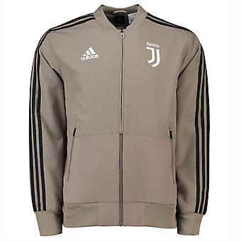 2018-2019 Juventus Adidas tecido jaqueta de apresentação (argila)