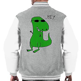 Trex Saying Hey Paint Art Men's Varsity Jacket