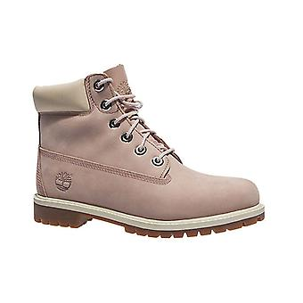 Timberland 6 inch premium junior real leather boots powder pink