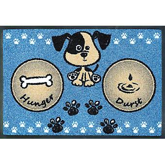 wash + dry dish mat dog meal blue 40 x 60 cm for the dog bowl
