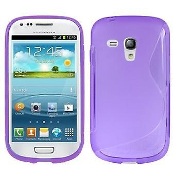 Protective case TPU case cover for mobile Samsung Galaxy S3 mini i8190 / i8195 / i8200 purple