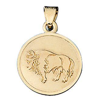 مقطورة البروج الثور الذهب 333 الذهب الأصفر كيوبيد
