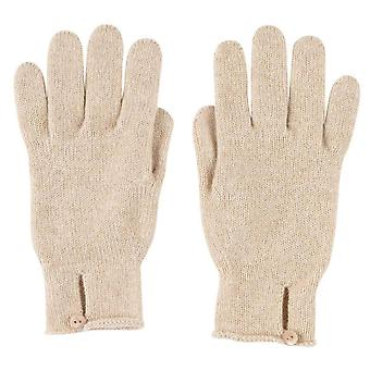 Johnstons of Elgin Button Loop Gloves - Natural Beige