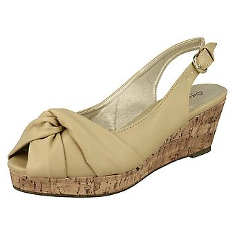 Ladies Savannah Wedge Heel Sandals F10023