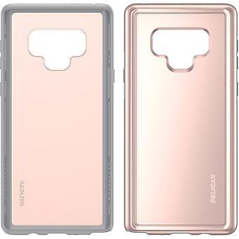 Pelikaan avonturier geval voor voor Samsung Galaxy Note 9 - Rose goud/grijs
