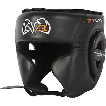 Rival Boxing RHG2 Leather Ultra Sleek Headgear - Black