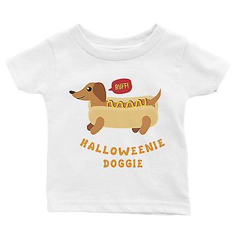 Halloweenie Doggie Baby Geschenk Tee weiß