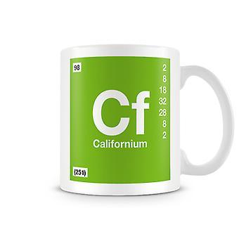 Wetenschappelijke bedrukte Mok met Element symbool 098 Californium