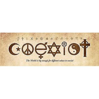 Coexist Poster The World is big enough for different values to saintchill. Small format T rposter