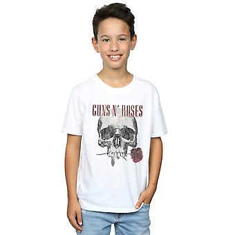 Guns N Roses Boys Flower Skull T-Shirt