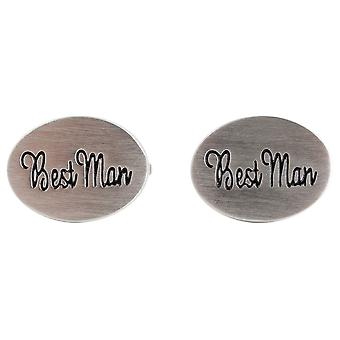 Zennor Best Man Wedding Cufflinks - Silver