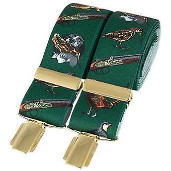 David Van Hagen caza clásico moda abrazadera - verde