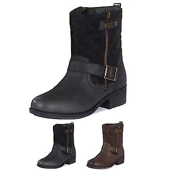 Womens Barbour Sienna Leather Winter Warm Fashion Closed Toe Ankle Boots