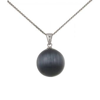 Cavendish French Sterling Silver and Grey Cats Eye Ball Pendant without Chain