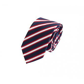 Tie cravate cravate cravate bleu 6cm rouge rayé blanc Fabio Farini