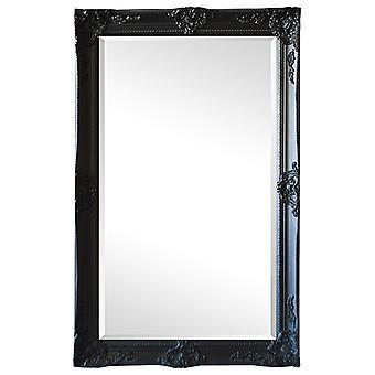 Mirror in black, dimensions 59x109 cm France motifs