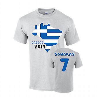 Greece 2014 Country Flag T-shirt (samaras 7)