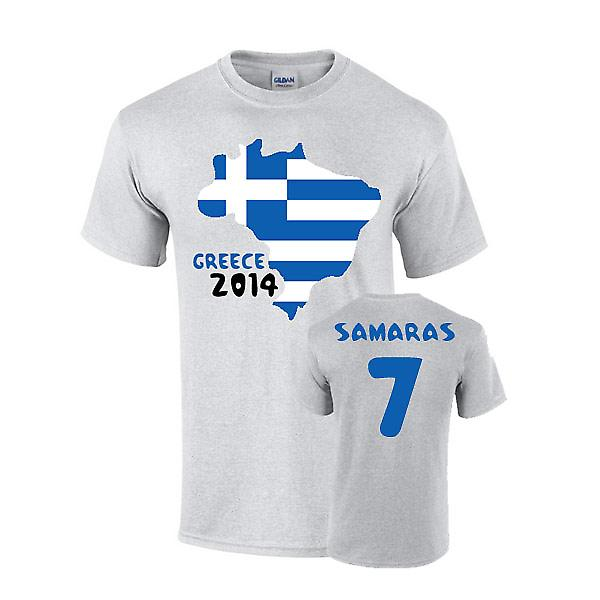Griechenland 2014 Country Flag T-shirt (Samaras 7)