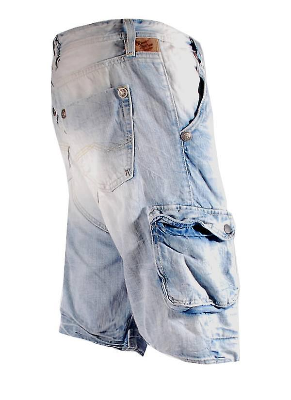 Rivet De Cru Blue Flour denim cargo short